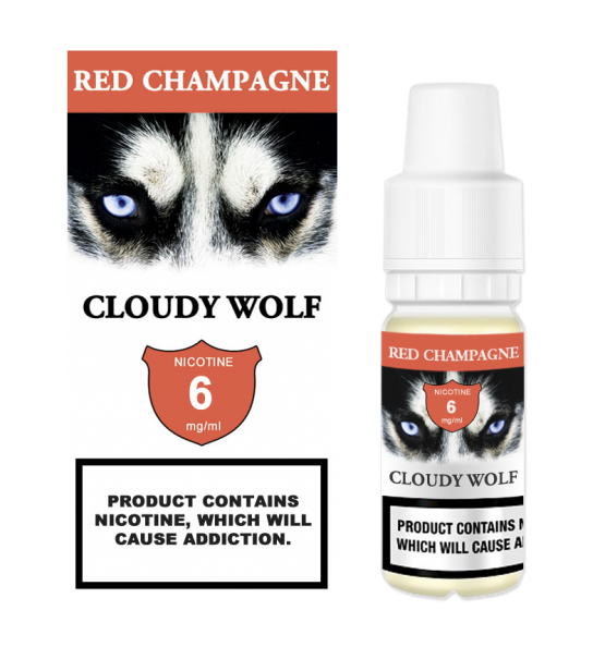 Red Champagne Cloudy Wolf 6mg